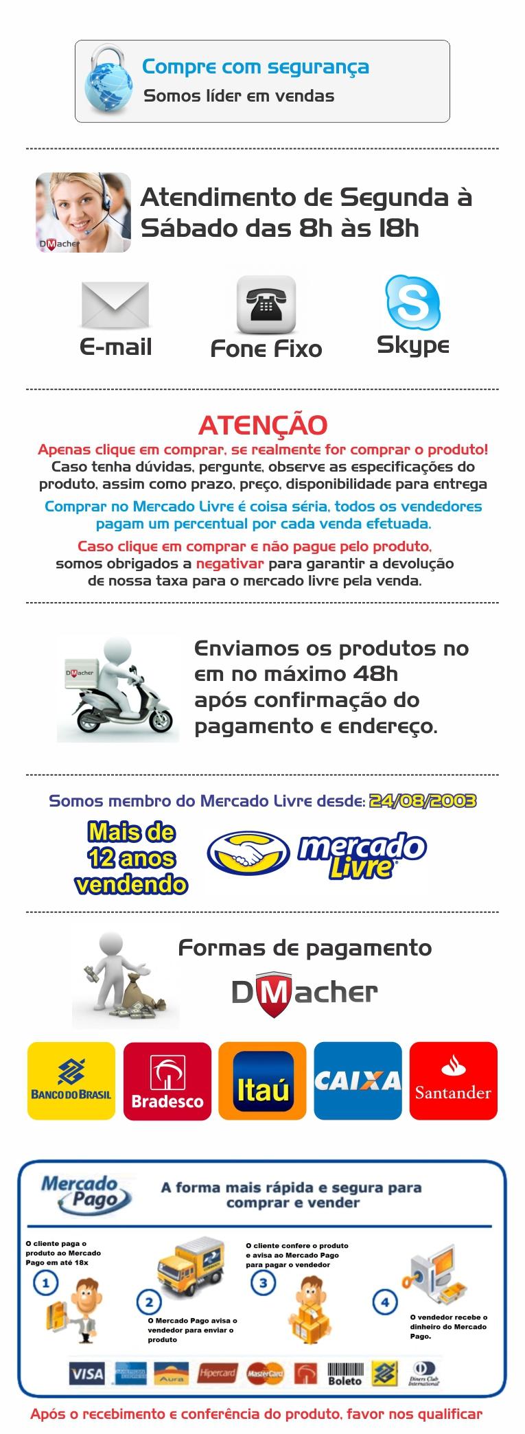 Venda Mercado Livre - Hospedagem Linux, cpanel